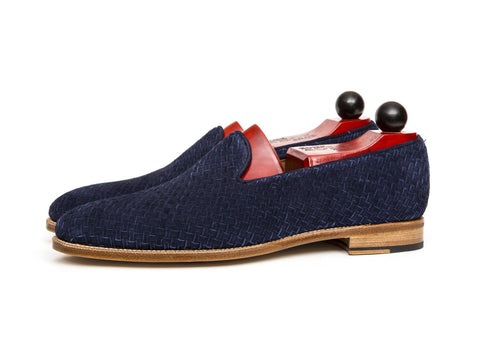 J.FitzPatrick Footwear - Laurelhurst ll - Braided Navy Suede/Natural Sole