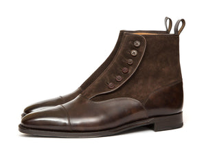 J.FitzPatrick Footwear - Bellevue - Dark Brown Museum Calf / Dark Brown Suede GMTO