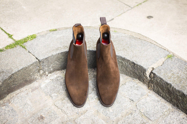 J.FitzPatrick Footwear - Alki - Dark Brown Suede