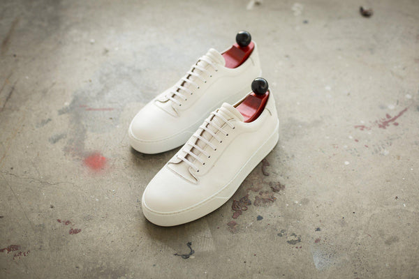 J.FitzPatrick Footwear - Olympia - White Calf / White Rubber Sole