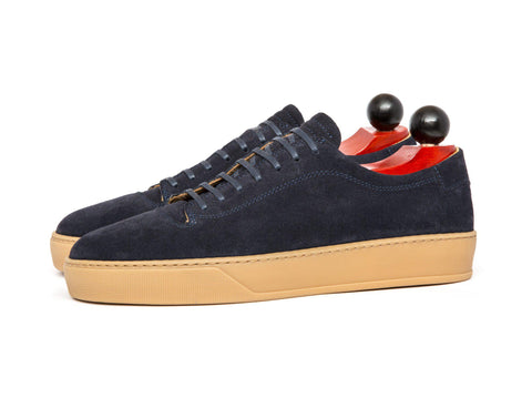 J.FitzPatrick Footwear - Olympia - Navy Suede / Gum Rubber Sole - Pre-Order