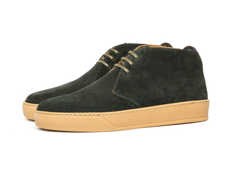 J.FitzPatrick Footwear - Anacortes - Dark Green Suede / Gum Rubber Sole