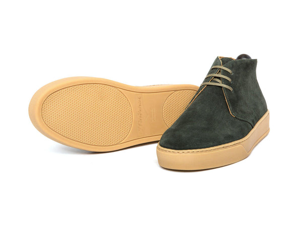 J.FitzPatrick Footwear - Anacortes - Dark Green Suede / Gum Rubber Sole - CLEARANCE