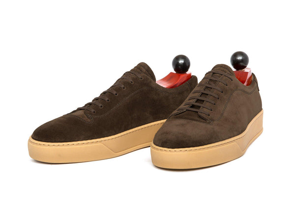 J.FitzPatrick Footwear - Olympia - Dark Brown Suede / Gum Rubber Sole