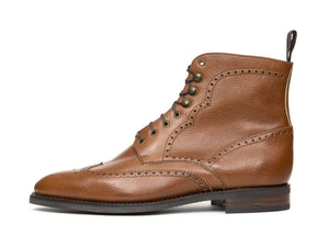 J.FitzPatrick Footwear - Holman - Tan Soft Grain - TMG Last - City Rubber Sole