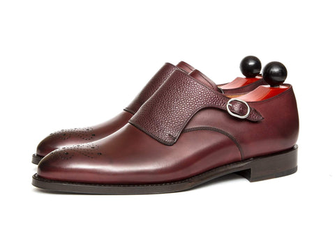 J.FitzPatrick Footwear - Corliss lll - Burgundy Calf / Burgundy Scotch Grain - Clearance