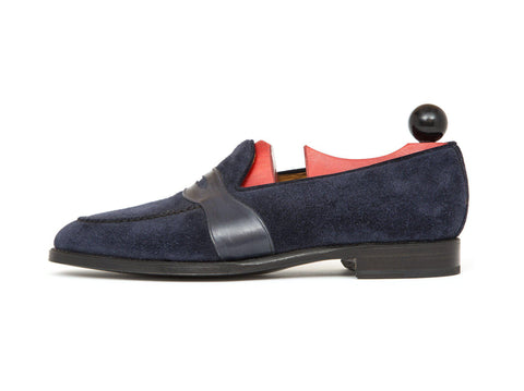 J.FitzPatrick Footwear - Madison - Shaded Navy Calf - TMG Last