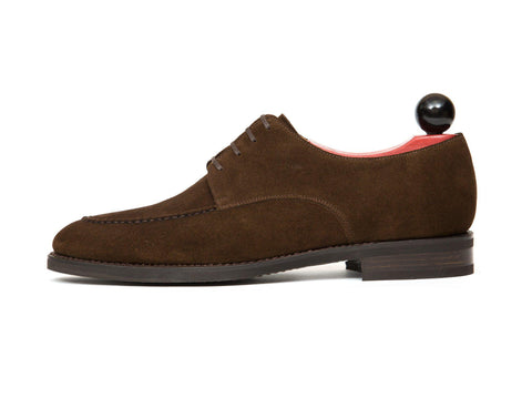 J.FitzPatrick Footwear - Lynwood - Dark Brown Suede - TMG Last - City Rubber Sole
