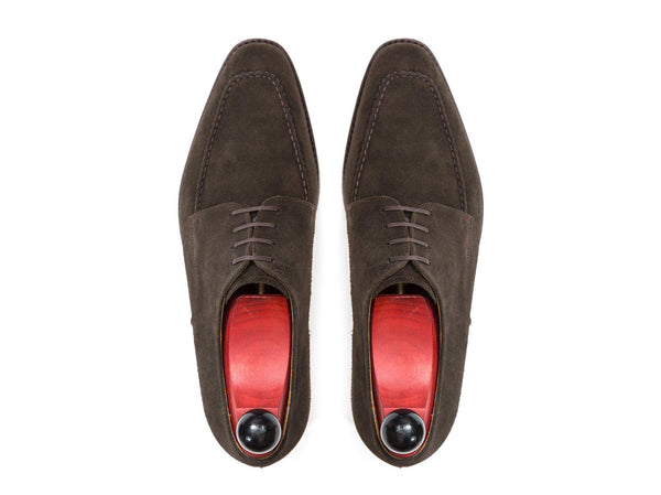 J.FitzPatrick Footwear - Lynwood - Bitter Chocolate Suede - LPB Last - Double Leather Sole