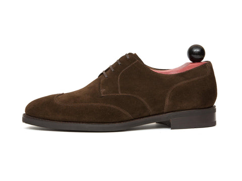 J.FitzPatrick Footwear - Dayton - Dark Brown Suede - TMG Last - City Rubber Sole