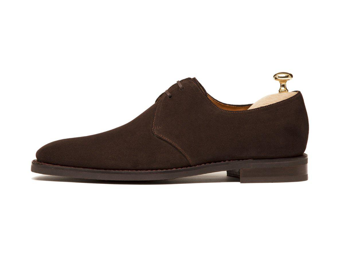 J.FitzPatrick Footwear - Fremont - Bitter Chocolate Suede - MGF Last - City Rubber Sole