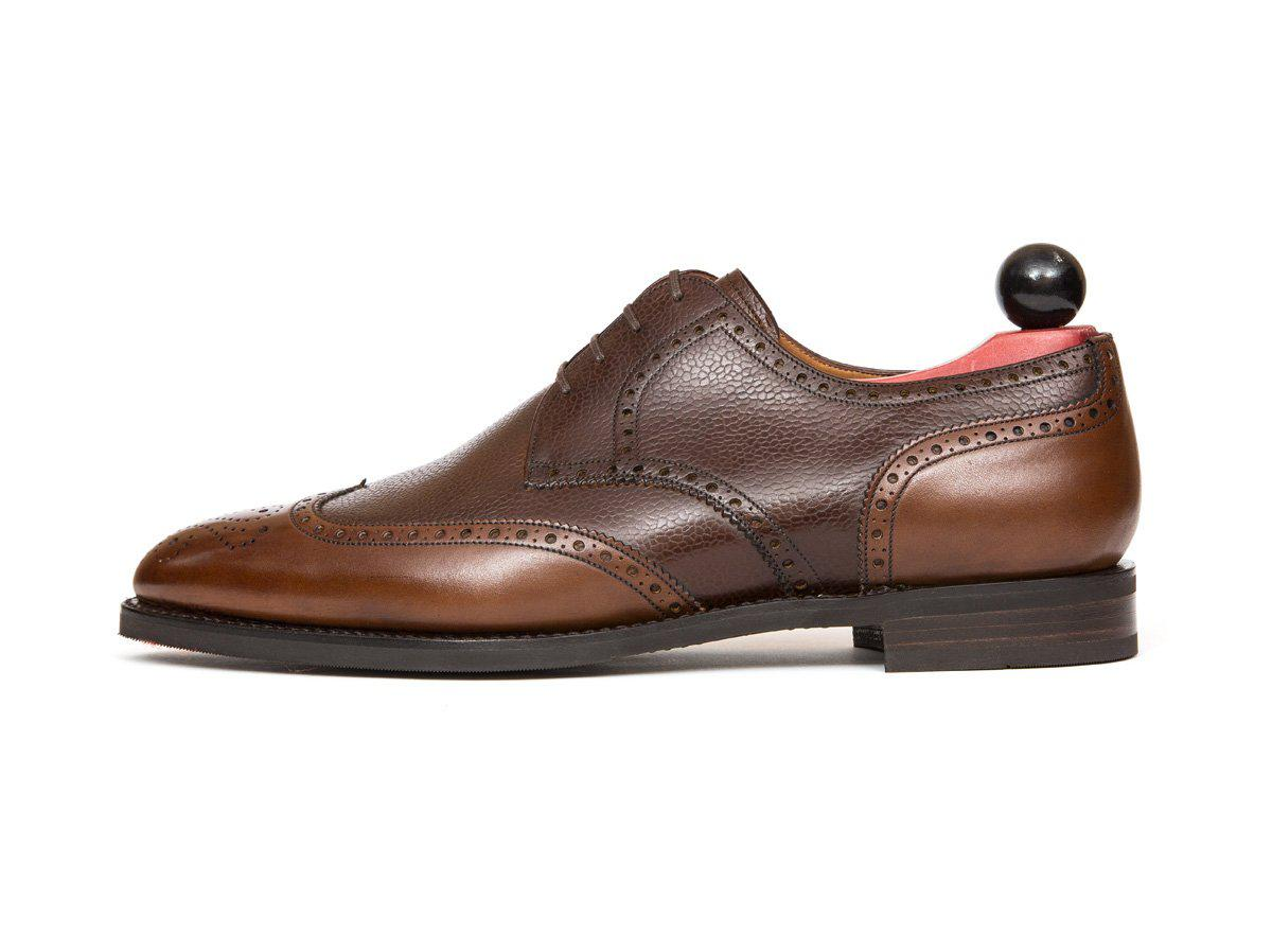 J.FitzPatrick Footwear - Northgate - Caramel Calf / Mid Brown Soft Grain - TMG Last - City Rubber Sole