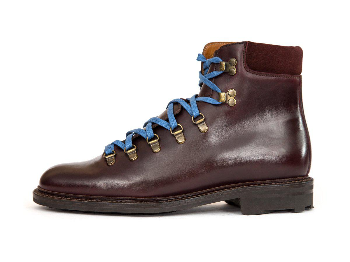 J.FitzPatrick Footwear - Snoqualmie - Burgundy Chromexcel / Burgundy Suede - NJF Last - Rugged Rubber Sole