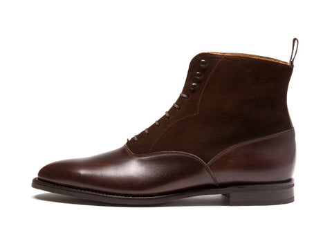 J.FitzPatrick Footwear - Wedgwood - Antique Brown Calf / Dark Brown Suede - TMG Last - City Rubber Sole