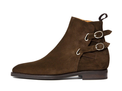 J.FitzPatrick Footwear - Genesee - Dark Brown Suede - LPB Last - City Rubber Sole