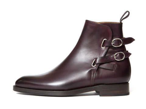 J.FitzPatrick Footwear - Genesee - Mulberry Calf - NGT Last - Double Leather Sole
