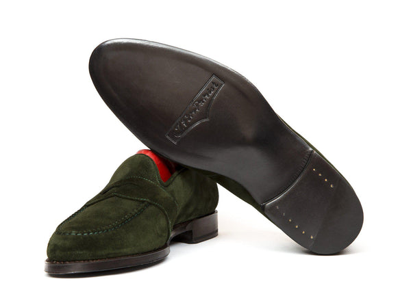 J.FitzPatrick Footwear - Madison - Forest Green Suede - TMG Last