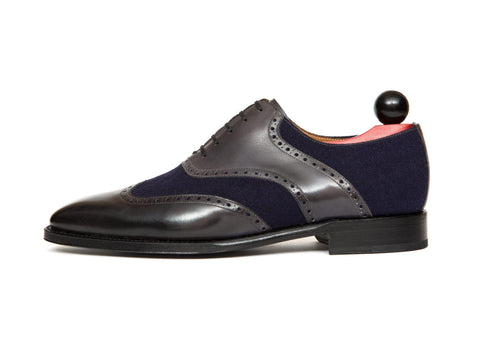 J.FitzPatrick Footwear - Phinney II Shaded Grey / Navy Tukwila LPB Last