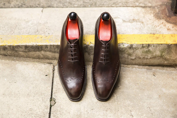J.FitzPatrick Footwear - Tony ll - Dark Brown Museum Calf - PRE ORDER