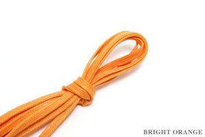 J.FitzPatrick Footwear - Flat Waxed Dress Shoe Laces - Bright Orange