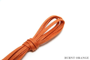 J.FitzPatrick Footwear - Flat Waxed Dress Shoe Laces - Burnt Orange