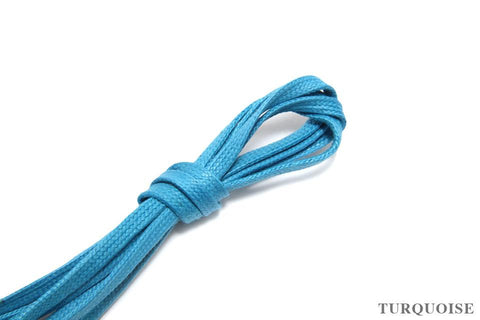 J.FitzPatrick Footwear - Flat Waxed Dress Shoe Laces - Turquoise