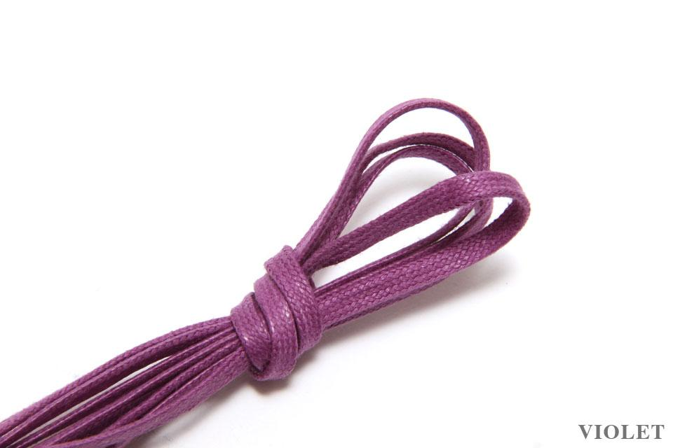 J.FitzPatrick Footwear - Flat Waxed Dress Shoe Laces - Violet