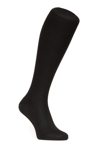 Egyptian Cotton Lisle Socks - Black