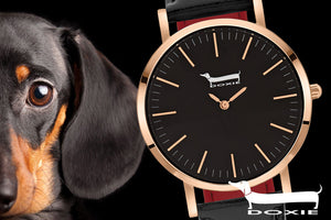 DOXIE WATCHES | I LOVE DACHSHUNDS | SILVER STEEL JEWELLERY