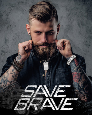 SAVE BRAVE MEN'S JEWELLERY | SILVER STEEL AUSTRALIA