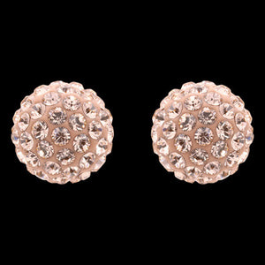 LOLA AND GRACE ROSE GOLD FULL SPARKLE STUD EARRINGS