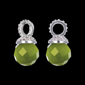 KAGI EMERALD DROPS EAR CHARMS