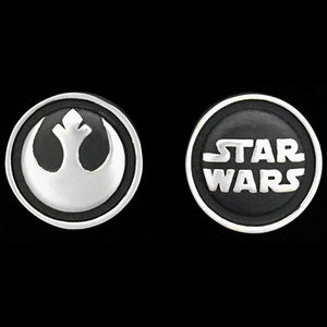 STAR WARS ROYAL SELANGOR REBEL ALLIANCE PEWTER CUFFLINKS