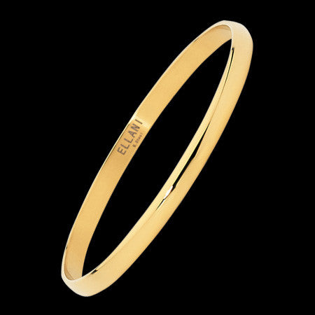 ELLANI STAINLESS STEEL GOLD IP CLASSIC CONVEX BRACELET