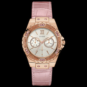 GUESS LIMELIGHT ROSE GOLD LADIES DRESS WATCH