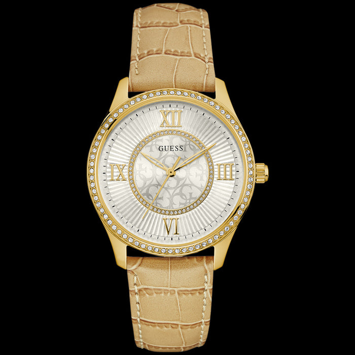 GUESS BROADWAY GOLD LADIES DRESS WATCH