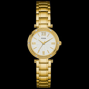 GUESS PARK AVENUE SOUTH GOLD LADIES DRESS WATCH