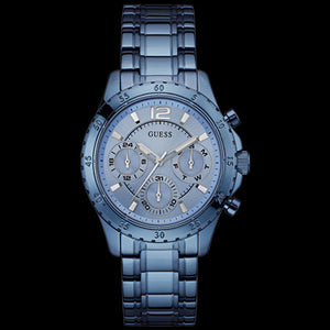 GUESS LATITUDE SKY BLUE LADIES SPORT WATCH