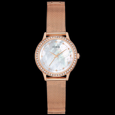 GUESS CHELSEA ROSE GOLD LADIES DRESS WATCH