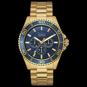 GUESS CHASER BLUE & GOLD MEN'S SPORT WATCH
