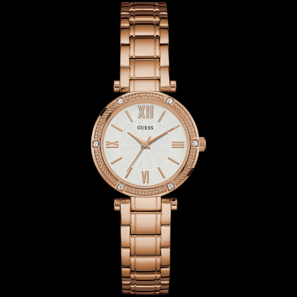 GUESS PARK AVENUE SOUTH ROSE GOLD LADIES DRESS WATCH