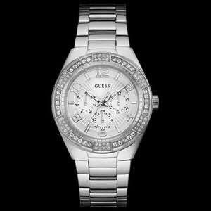 GUESS LUNA SILVER LADIES SPORT WATCH