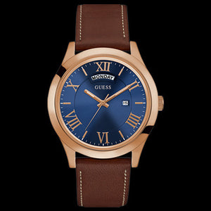 GUESS METROPOLITAN ROSE GOLD MEN'S DRESS WATCH