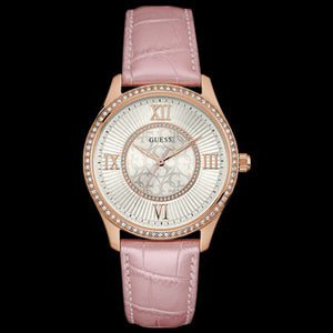 GUESS BROADWAY ROSE GOLD LADIES DRESS WATCH