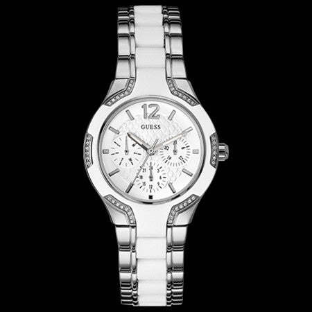 GUESS CENTRE STAGE SILVER LADIES SPORT WATCH
