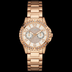 GUESS SASSY ROSE GOLD LADIES SPORT WATCH