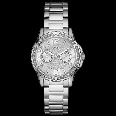 GUESS SASSY SILVER LADIES DRESS WATCH