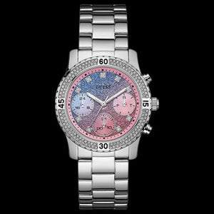 GUESS CONFETTI SILVER LADIES SPORT WATCH