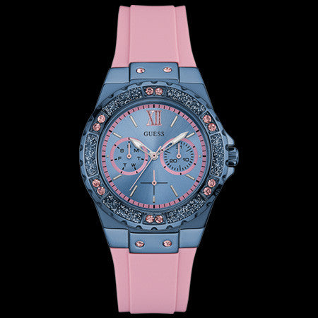 GUESS LIMELIGHT SKY BLUE LADIES SPORT WATCH