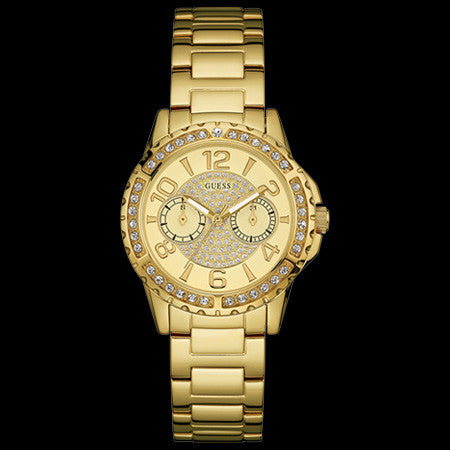 GUESS SASSY GOLD LADIES SPORT WATCH